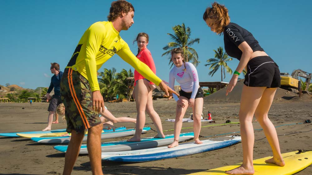Panama retreat playa venao beach surfing instruction